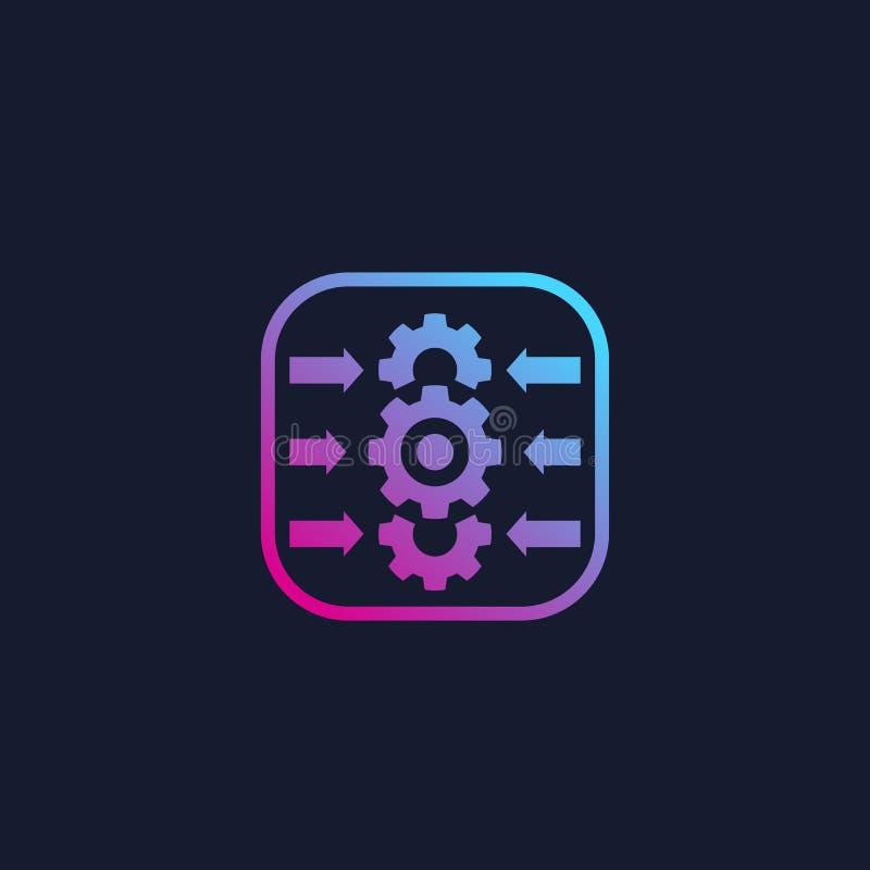 Intégration, logiciel d'optimisation, vecteur illustration stock