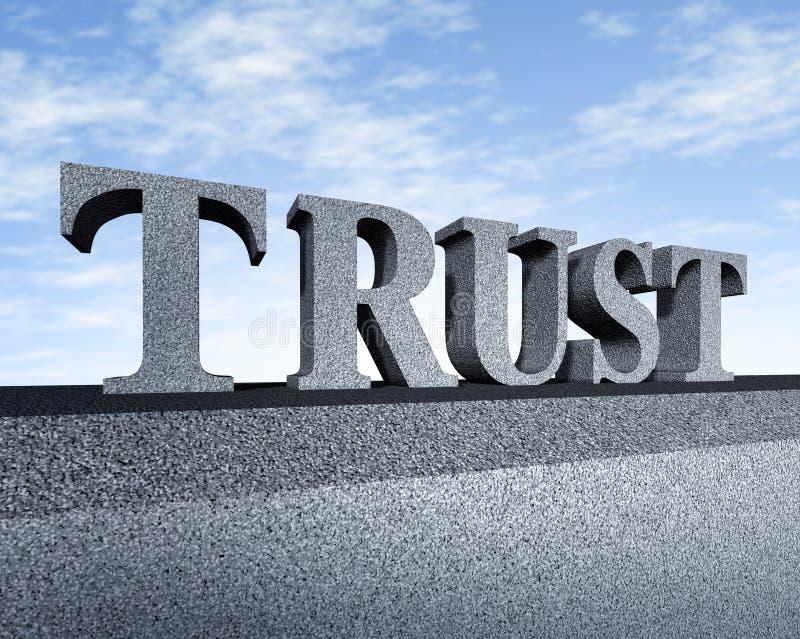 Intégrité financière de symbole d'affaires d'honneur de confiance illustration stock