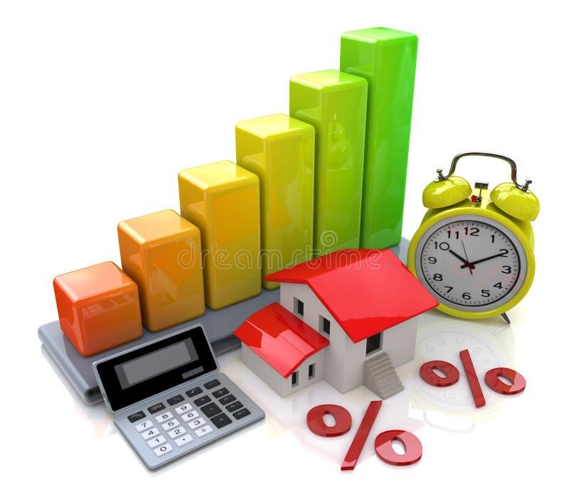 Intérêt sur des prêts de propriété illustration de vecteur