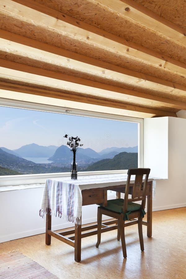 Int rieur la maison fen tre panoramique image stock for La fenetre panoramique
