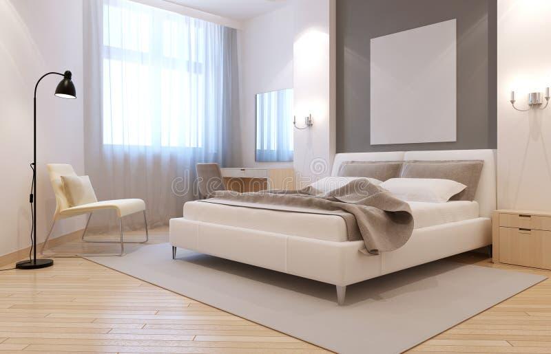 Intérieur élégant de chambre à coucher d'avangard illustration stock