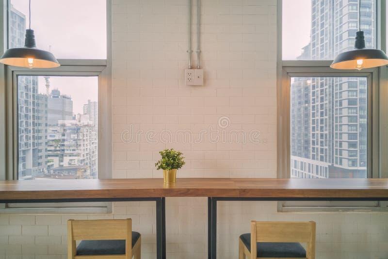 Intérieur élégant de salle à manger photo libre de droits