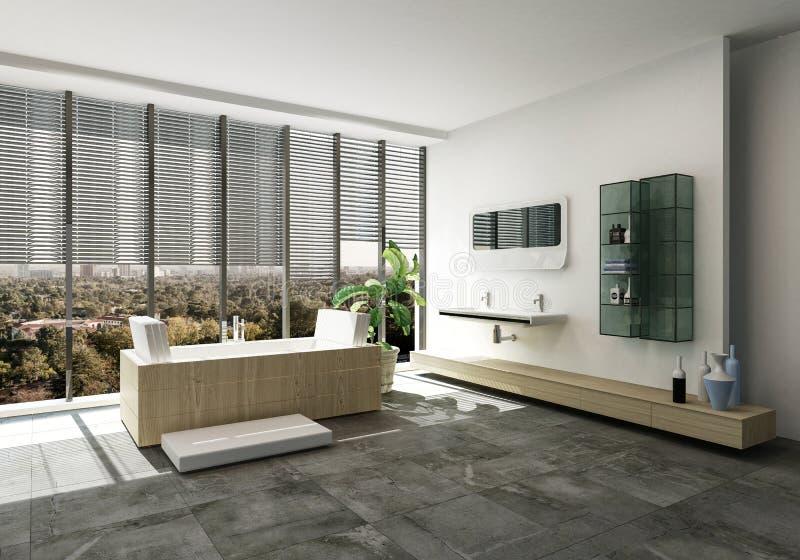 Intérieur élégant de salle de bains de concepteur illustration libre de droits