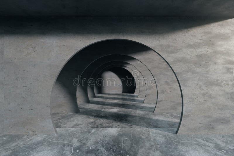 Intérieur abstrait avec le tunnel illustration libre de droits