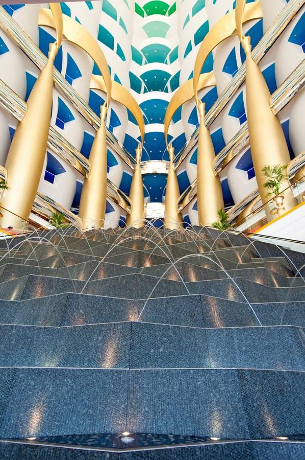 Intérieur arabe d'Al de Dubaï Burj images libres de droits