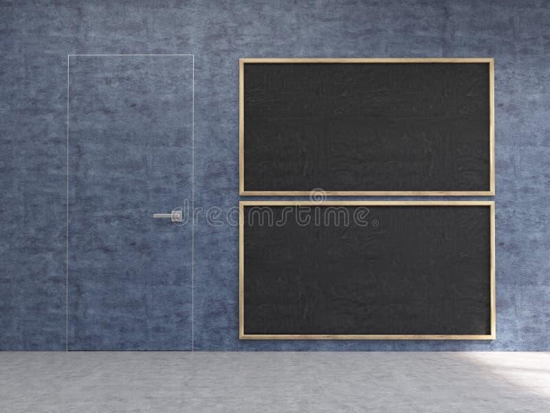 Intérieur avec des tableaux illustration stock