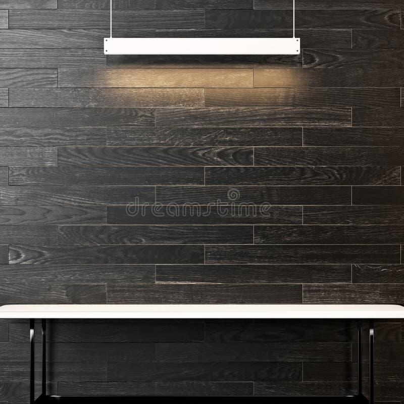 Intérieur avec la table et la lampe vides images libres de droits