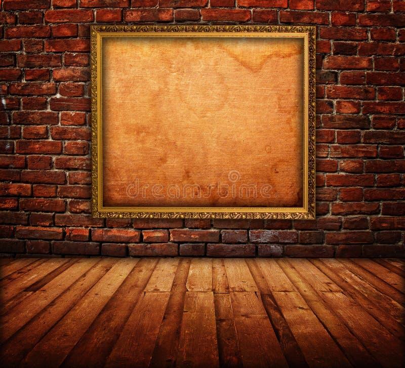 Intérieur avec le cadre de tableau photo stock