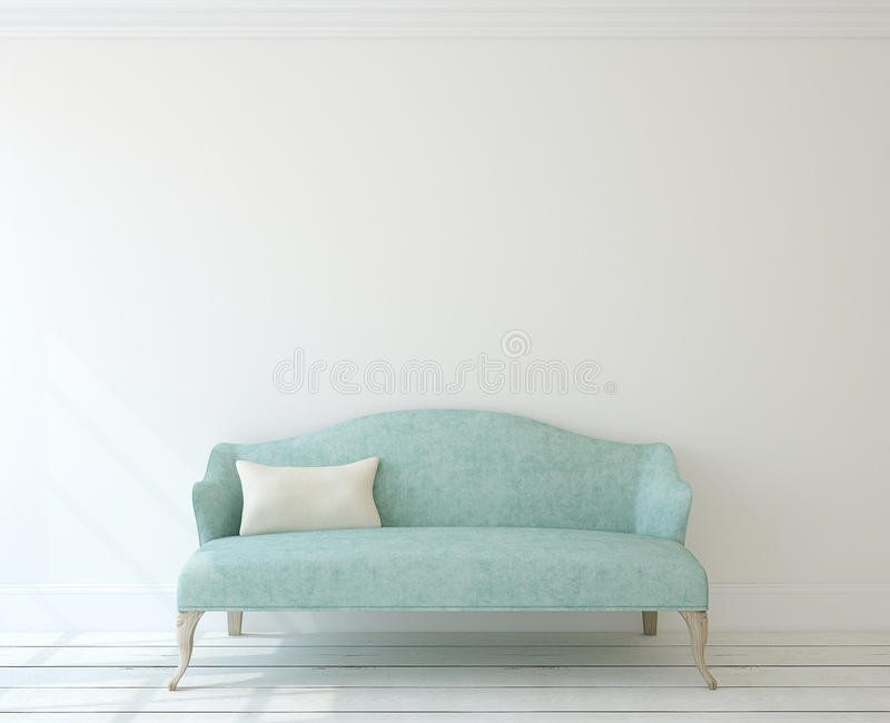 Intérieur avec le divan moderne illustration de vecteur