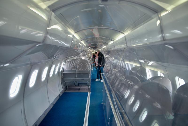 Intérieur - avions supersoniques Concorde photographie stock libre de droits