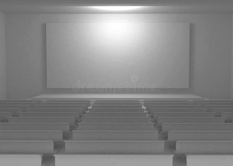 Intérieur blanc d'écran illustration de vecteur
