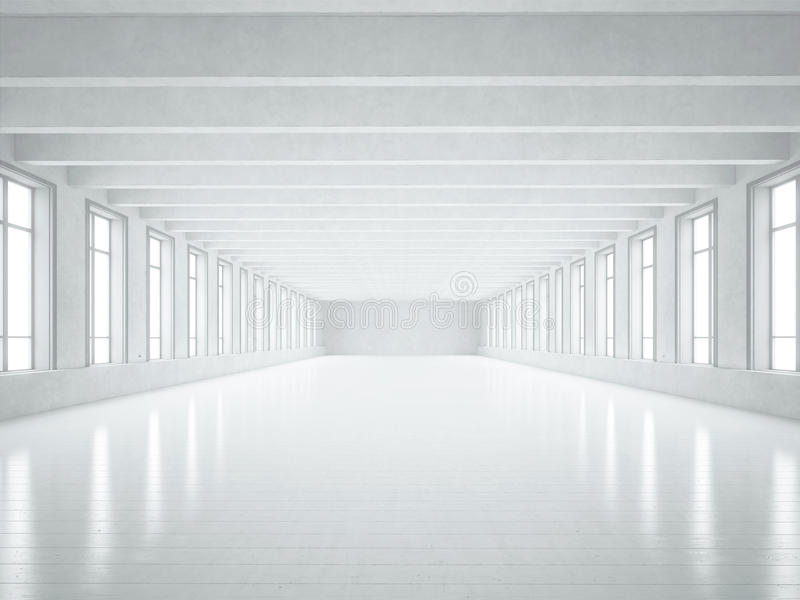 Intérieur blanc de grenier photographie stock