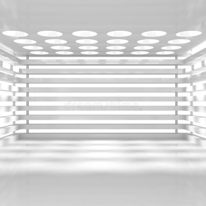 Intérieur blanc vide illustration stock