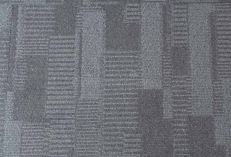 Intérieur bleu de modèle de tapis de bureau photographie stock libre de droits