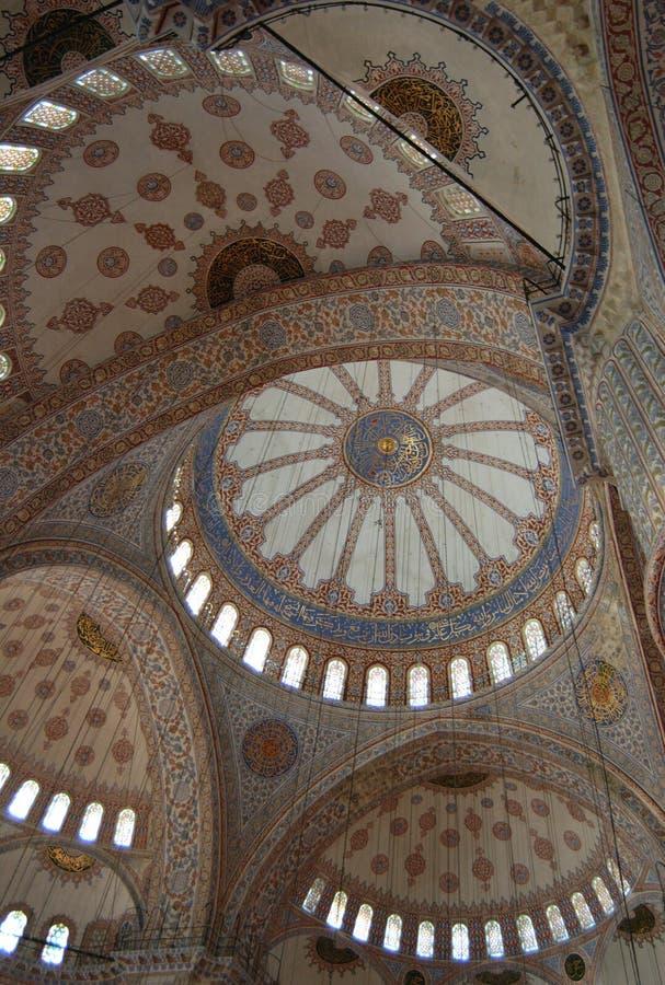 Intérieur bleu de mosquée photo libre de droits