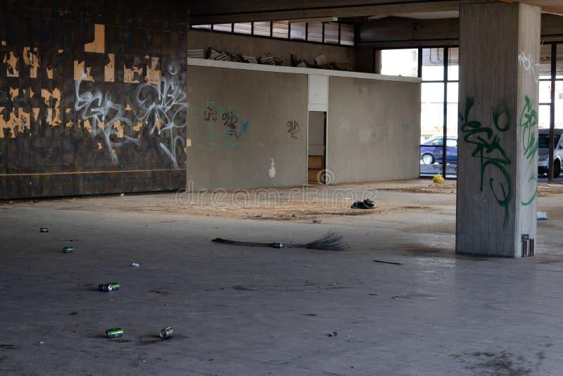 Intérieur central commercial abandonné sur Ténérife, Îles Canaries, Espagne - image image stock