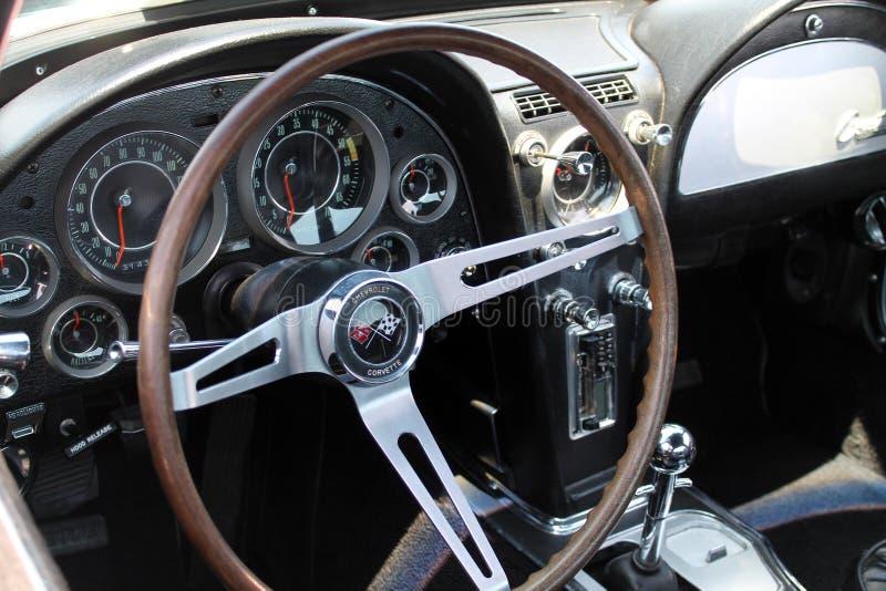 Intérieur classique de corvette image libre de droits