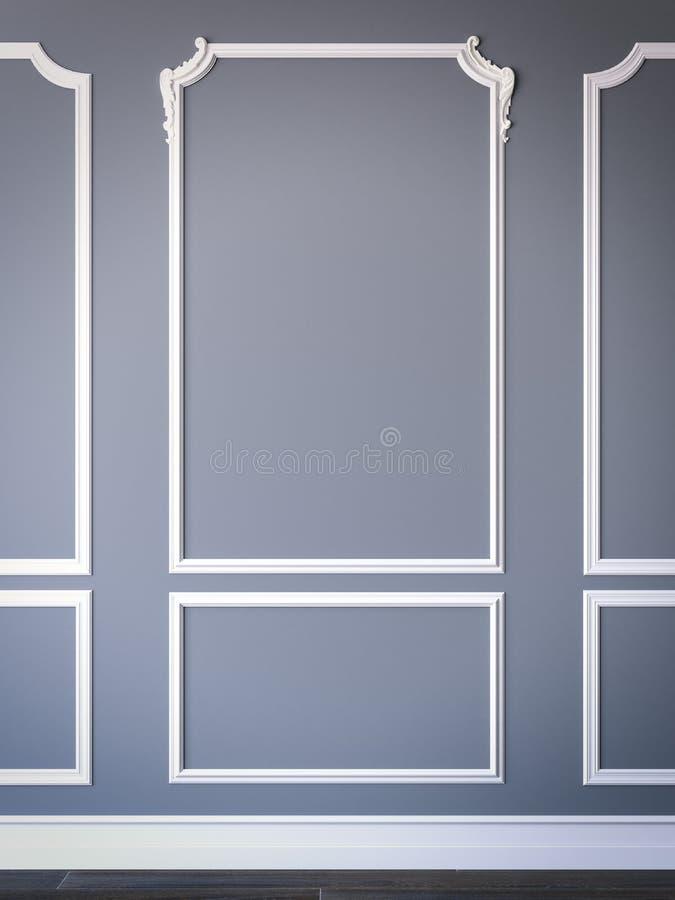 Intérieur classique simple de style rendu 3d illustration de vecteur