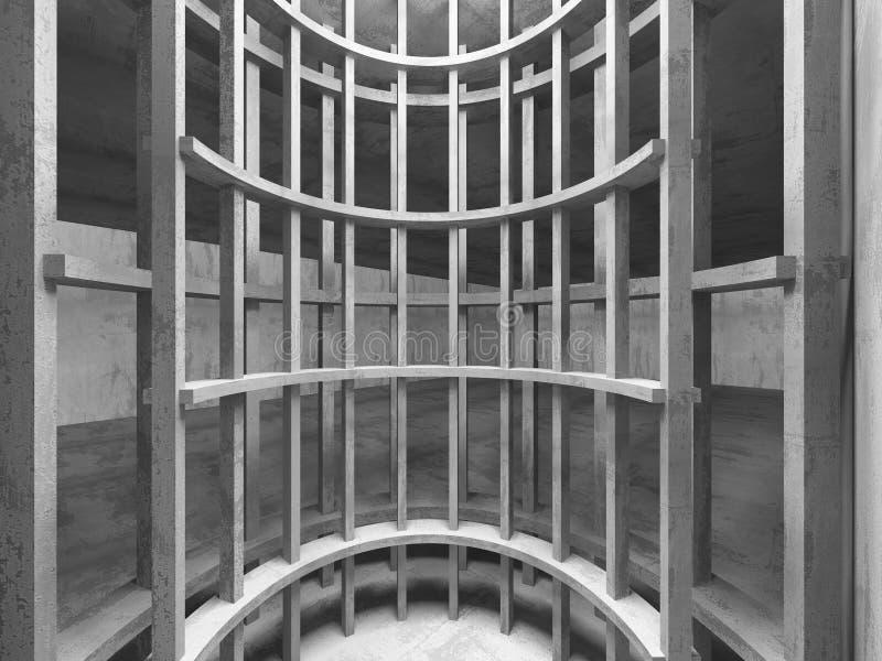 Intérieur concret sombre vide de pièce Fond urbain d'architecture image libre de droits