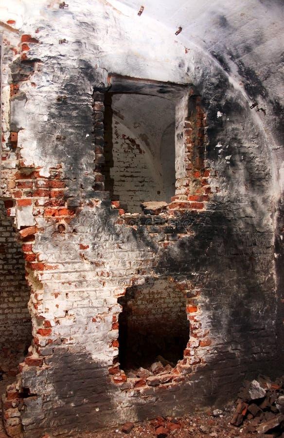 Intérieur délabré photo stock
