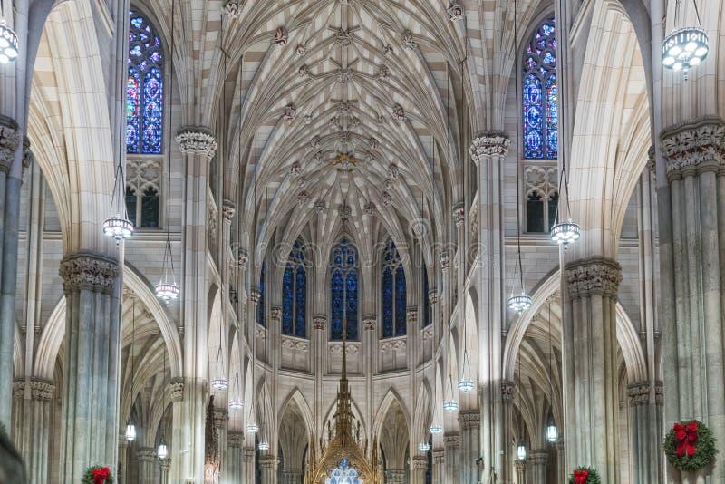 Intérieur d'église à New York images libres de droits