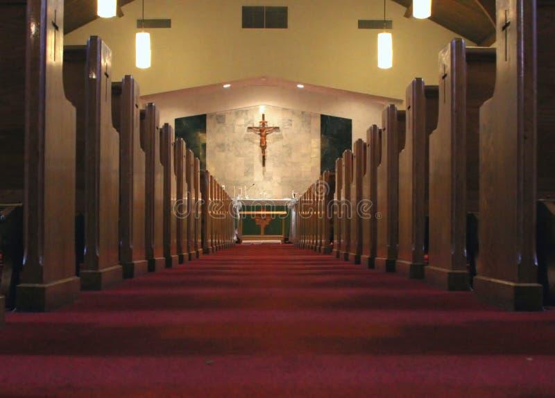 Intérieur d'église photographie stock
