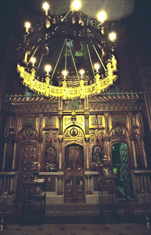 intérieur d'église images stock
