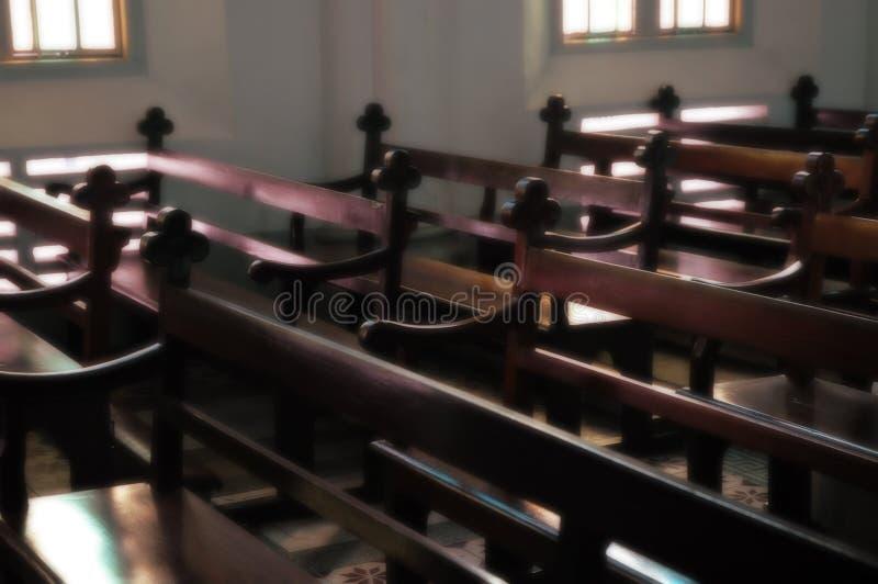 Intérieur D église Images libres de droits