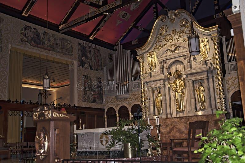 Intérieur d'église de cathédrale dans St Augustine Florida Etats-Unis photo libre de droits