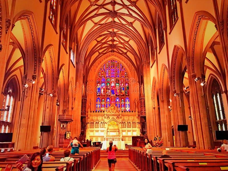 Intérieur d'église Trinity à New York photo libre de droits