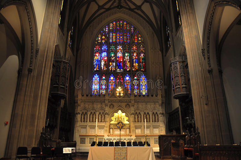 Intérieur d'église Trinity, New York City image stock
