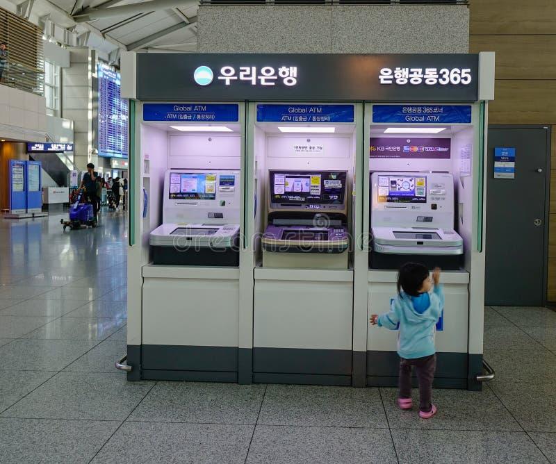 Intérieur d'aéroport d'Incheon photos libres de droits