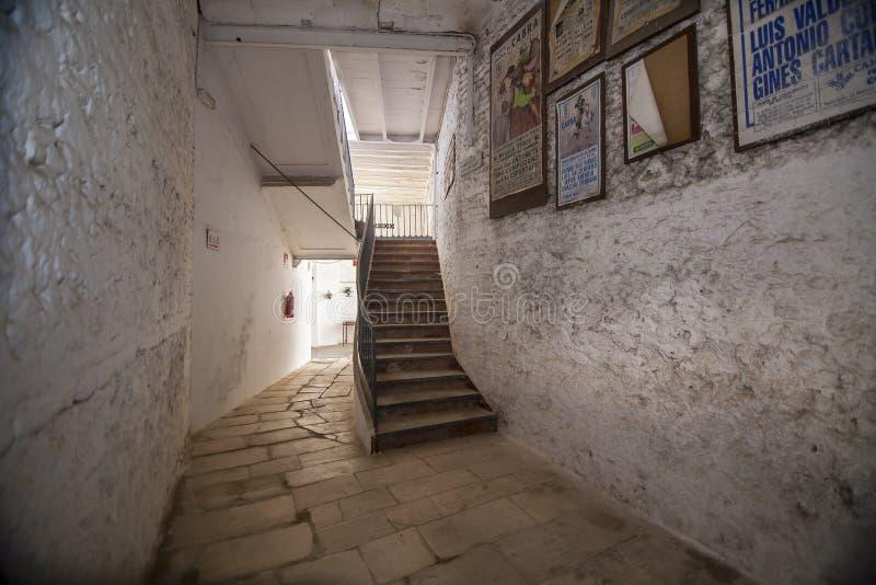 Intérieur d'arène de Cabra, province de Cordoue, Espagne image stock