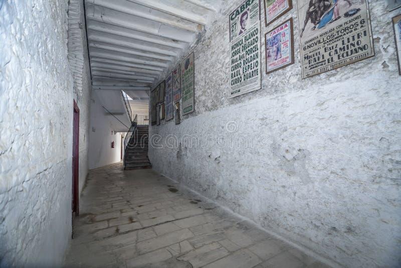 Intérieur d'arène de Cabra, province de Cordoue, Espagne, septembre photo stock