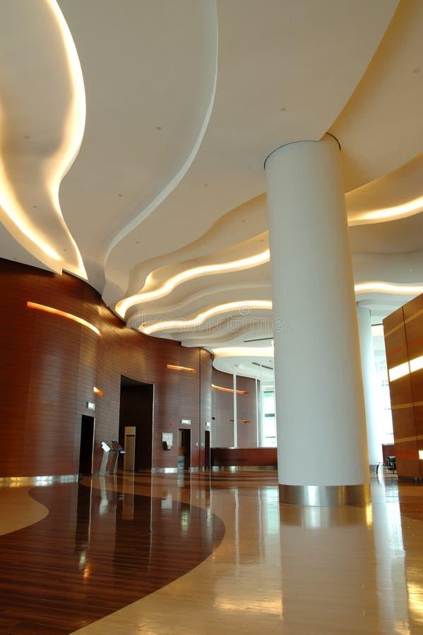 Intérieur d'architecture de construction d'affaires images libres de droits