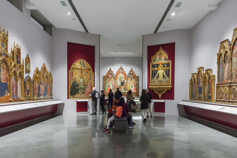 Intérieur d'Art Gallery de l'académie en Florence Accademia d image libre de droits