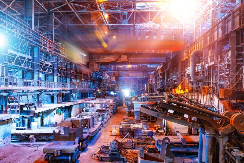 Intérieur d'atelier métallurgique de centrale photo libre de droits