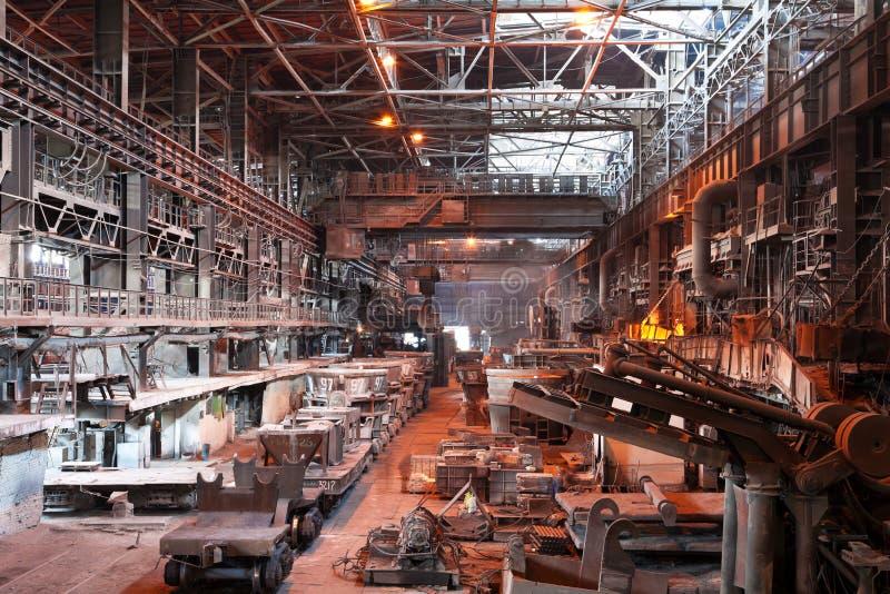 Intérieur d'atelier métallurgique de centrale photos libres de droits