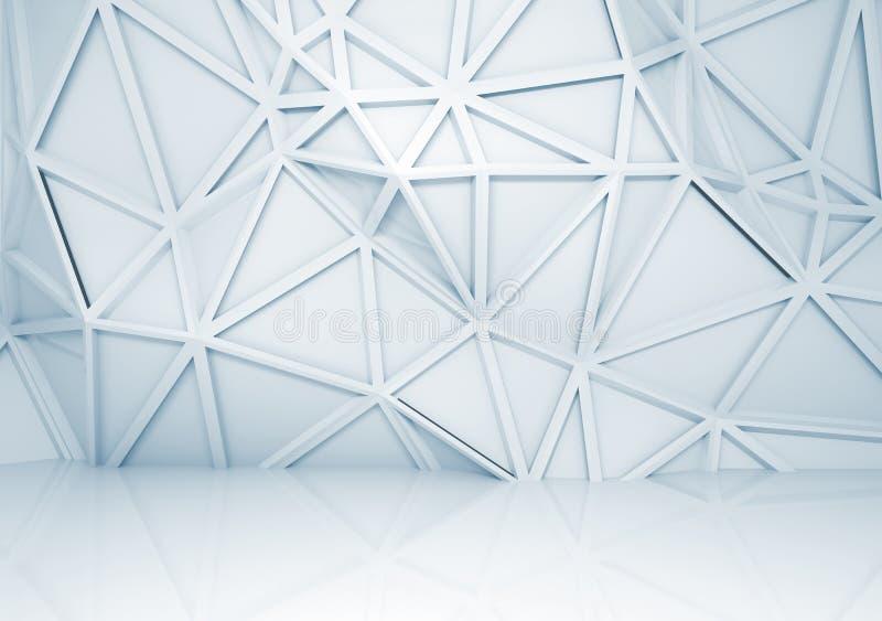Intérieur 3d Avec Le Modèle En Relief Polygonal Sur Le Mur ...