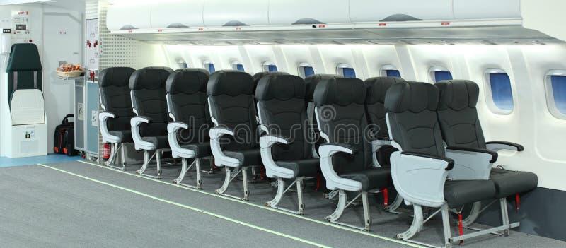 Intérieur d'avion images stock