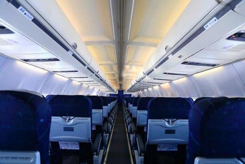 Intérieur d'avion photo stock