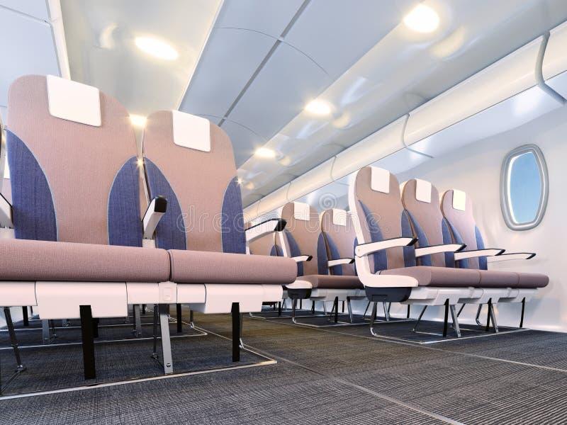 Intérieur d'avion illustration de vecteur