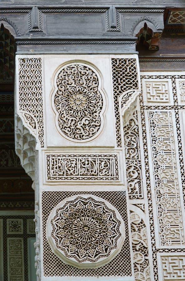 Intérieur d'EL Bahia Palace à Marrakech photo stock
