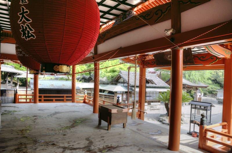 Intérieur d'entrée de temple, Japon images libres de droits