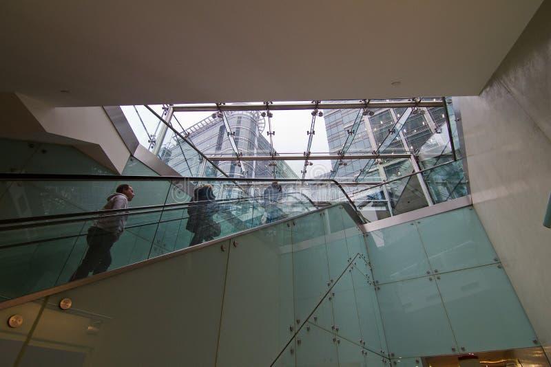 Intérieur d'entreprise de Canary Wharf images libres de droits