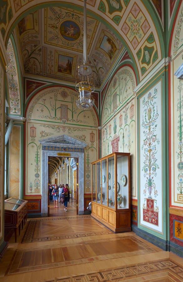 Intérieur d'ermitage d'état. St Petersbourg photos libres de droits