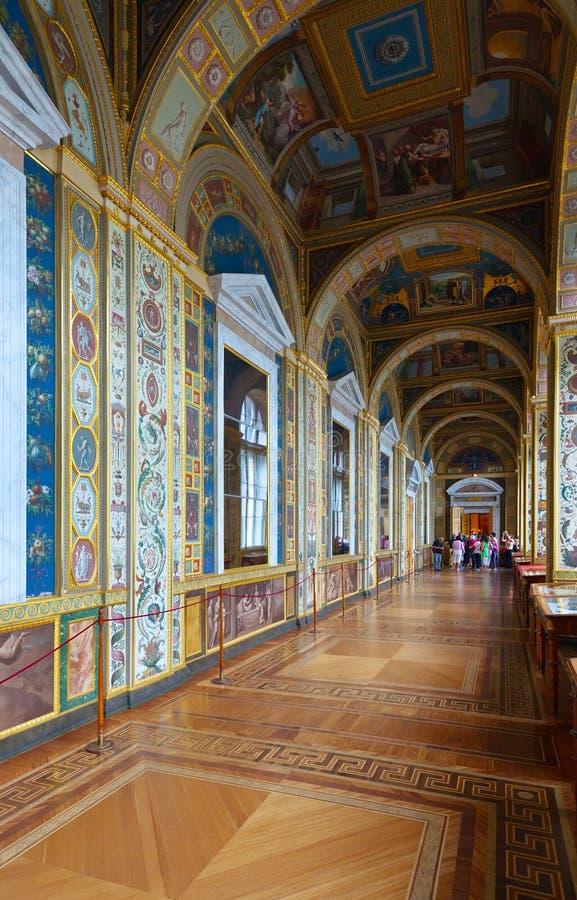 Intérieur d'ermitage d'état. St Petersburg images stock