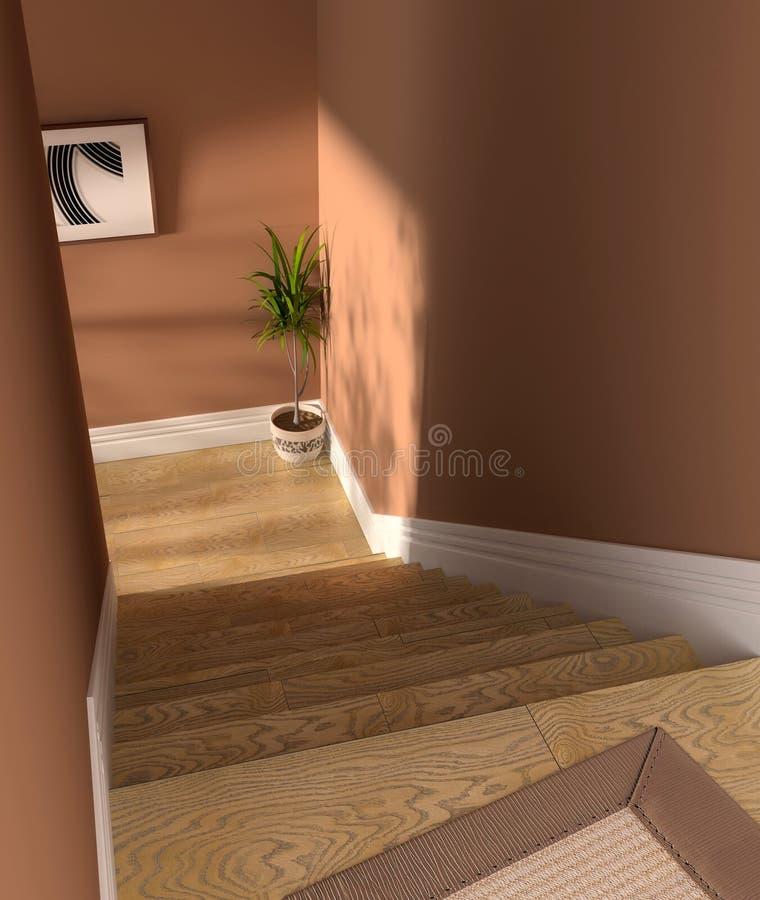 Intérieur d'escalier photo stock