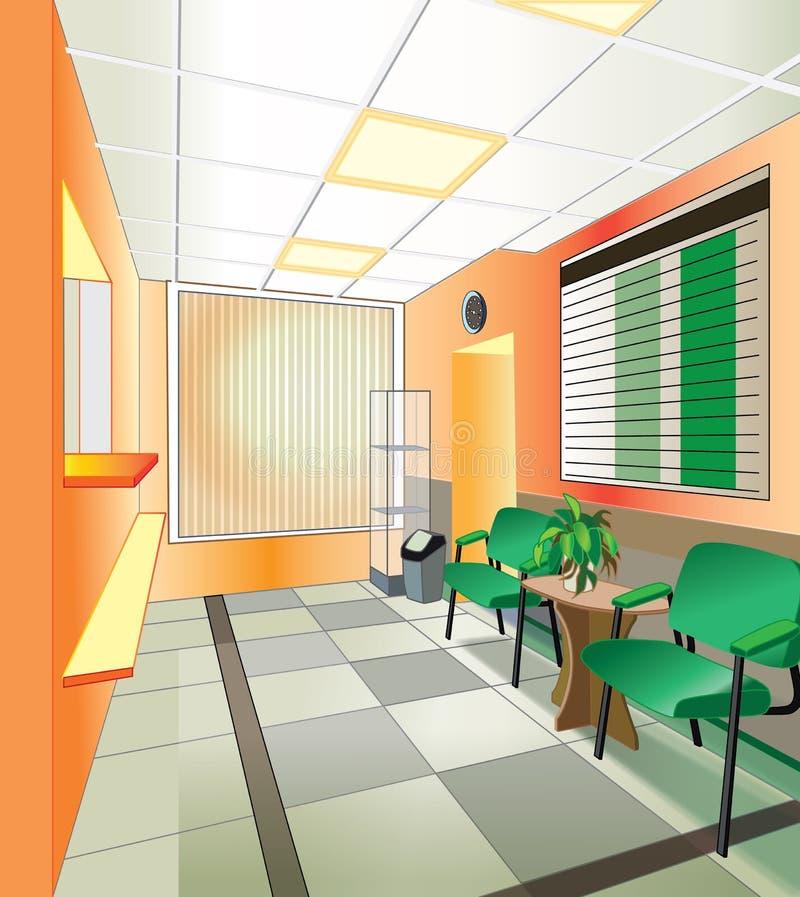 Intérieur d'hôpital illustration de vecteur