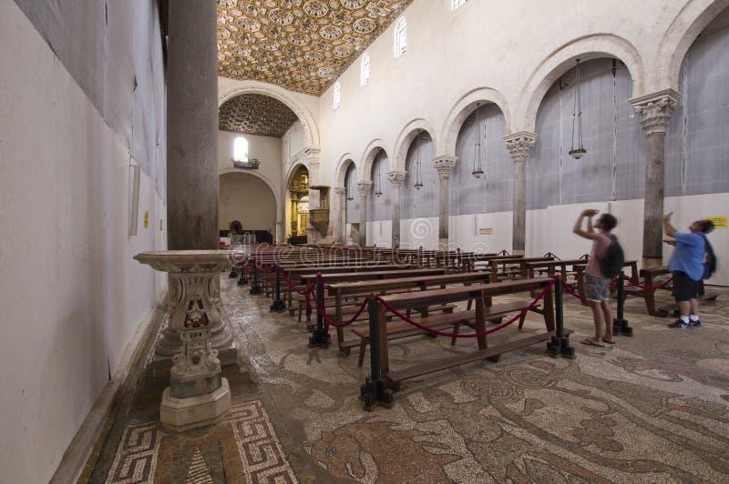 Intérieur d'Otranto Cahtedral, Italie photo libre de droits